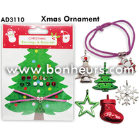 New Novelty Toy Earrings Bracelet Xmas Ornament Necklace