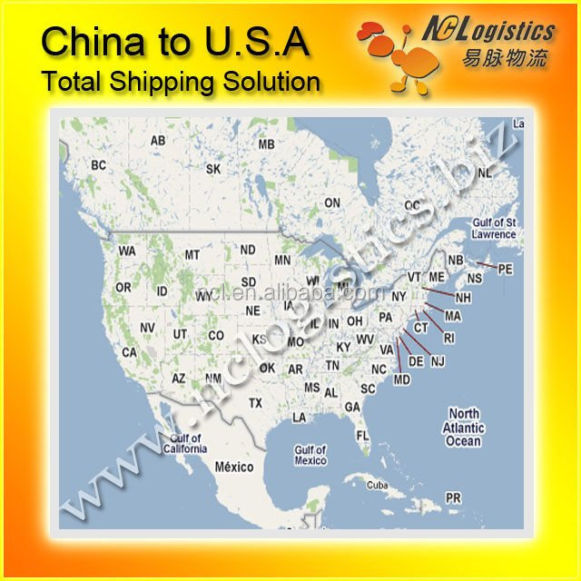 top 10 interantional sea/ari logistics ship from China to USA