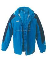 outdoor waterproof breathable 3 in 1 winter coat jacket