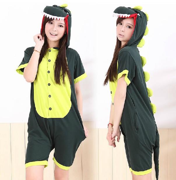 Get Quotations · Free Shipping Adult Unisex Summer onesie animal dinosaur pajamas  women men Onesie short-sleeve sleepwear 5ecb12249