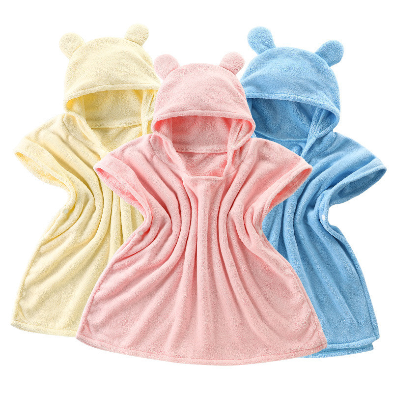 High Quality Baby Super Soft Cape Child Bathrobe Hooded Kids Polyester Cotton Bath Towel