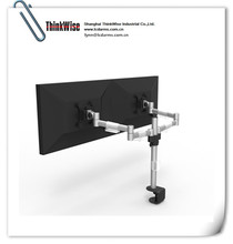 ThinkWise M200 dual monitor arm with post dual screen stand