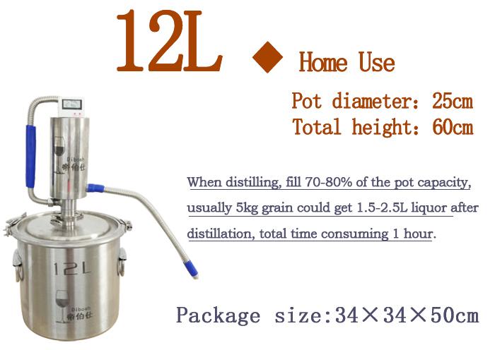 12L Maison Utilisé Distillateur D'eau De Rose De 304 En Acier inoxydable
