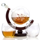 Amazon Globe Liquor Glass Whiskey Globe Decanter