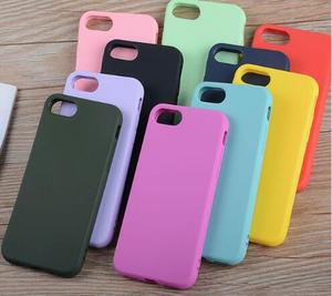 1.5MM Colorful Simple Solid Candy Color Soft TPU Silicon Plain phone cases for iPhone 678 X Matte Frosted Back Coque cover Case