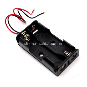 AA battery holder with cover with switch with wire leads battery case box with connector China