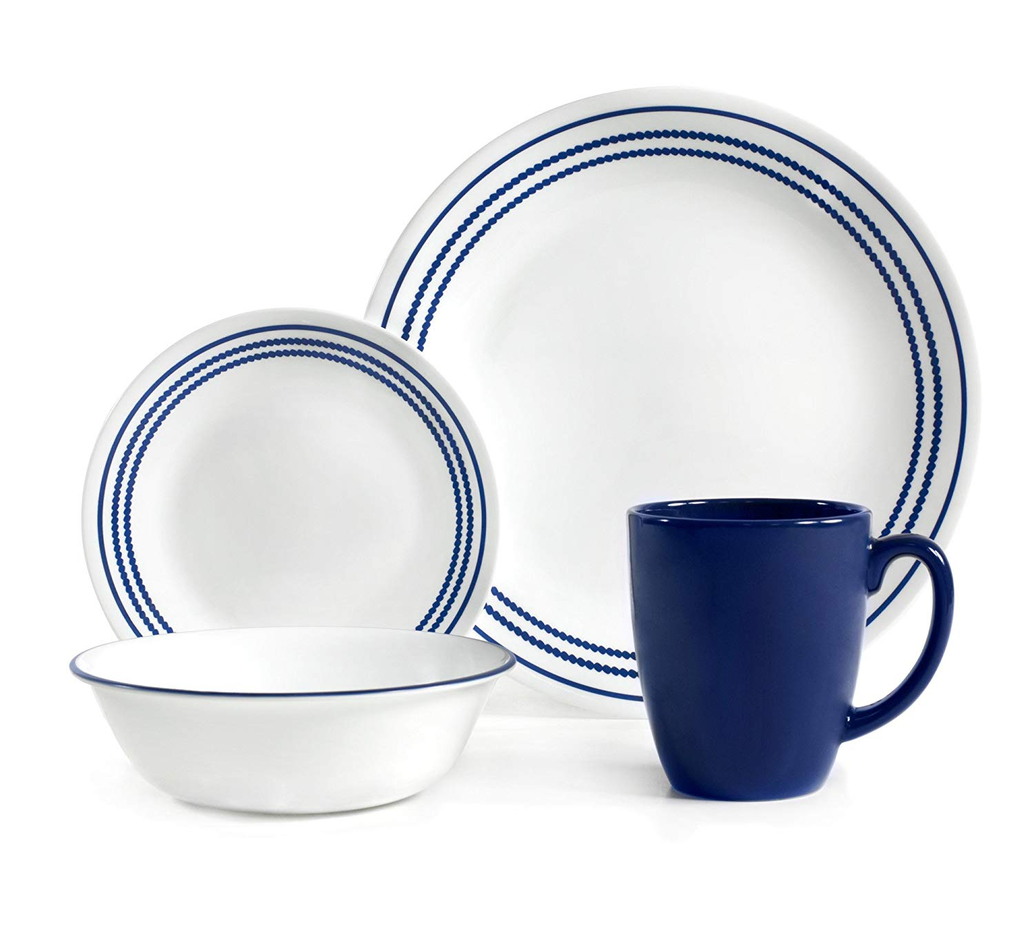 delightful Corelle Luncheon Plates Open Stock Part - 13: Get Quotations · Corelle Livingware 16 Piece Set Jett Blue, Service for 4,  includes 4each of 10.25
