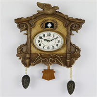 Cuckoo Wall Clock with Bird Come Out Vintage Cuckoo Clock Fashion Living Room call Day Time Cuckoo Clock