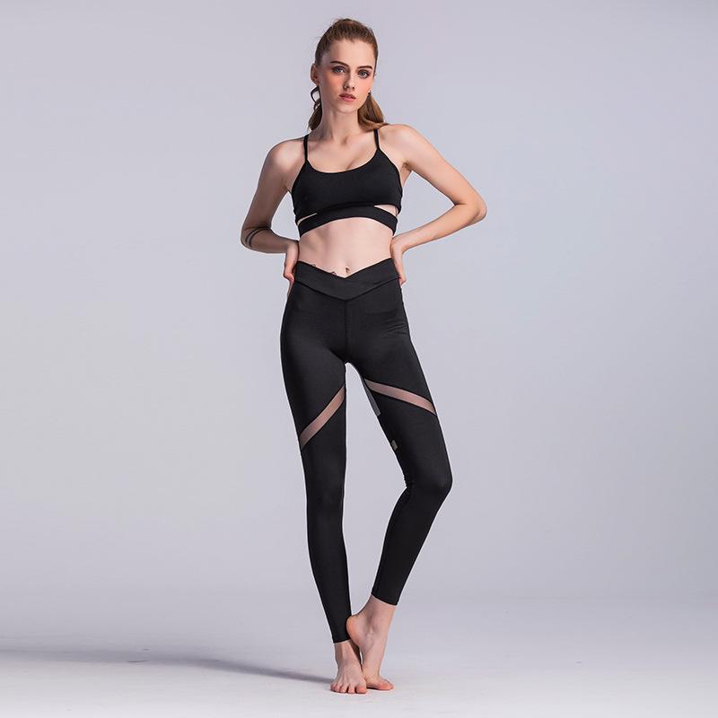 Women Yoga Pants Power Flex Sport Pants Active Stretch High Waist Workout Running Yoga Leggings 5