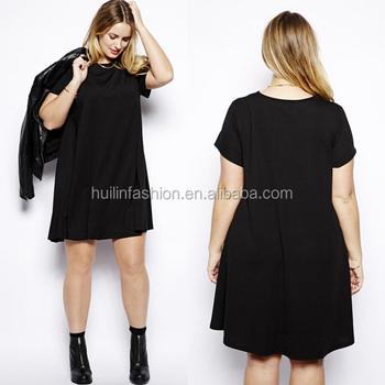 2014 Ladies Simple Fashion Dress For Fat Women Plus Size