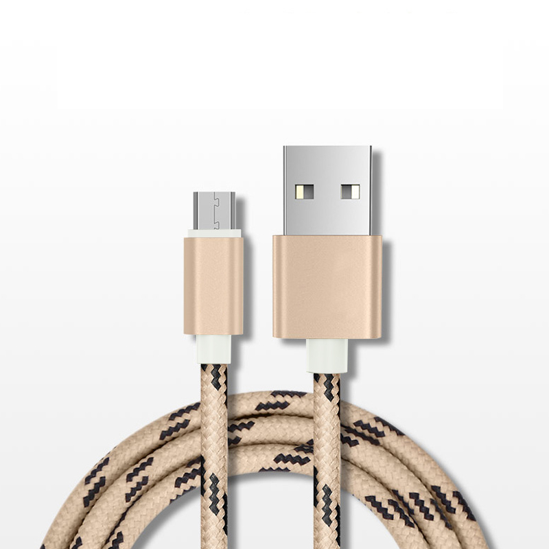 Nylon braided 2A 0.25M/1M/1.5M/2M data charging electric wire micro <strong>usb</strong> to <strong>usb</strong> cable for iphone 6/7/8/X