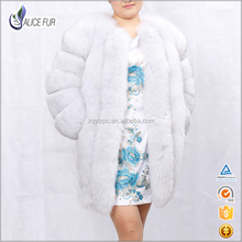 Excellent China Supplier OEM Service High Quality Natural Color Women Winter Real Blue Fox Fur Coat