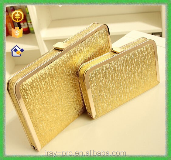 New Fashion Luxury Evening Golden silver Clutch Woman handbag