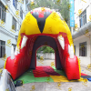 giant yellow Inflatable wolf tunnel