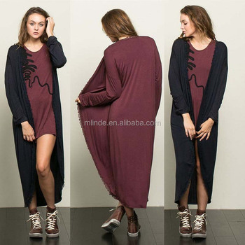 430c08922a364 Women Full Length Cocoon Duster ladies extra long cardigan New Arrival