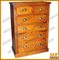 pine wood chest tallboy