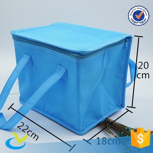 Customized shoulder 6 can insulated cooler food bag