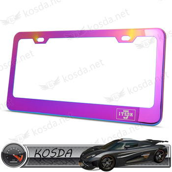 Wholesale Neo Chrome Stainless Steel Us Size Custom Car License ...