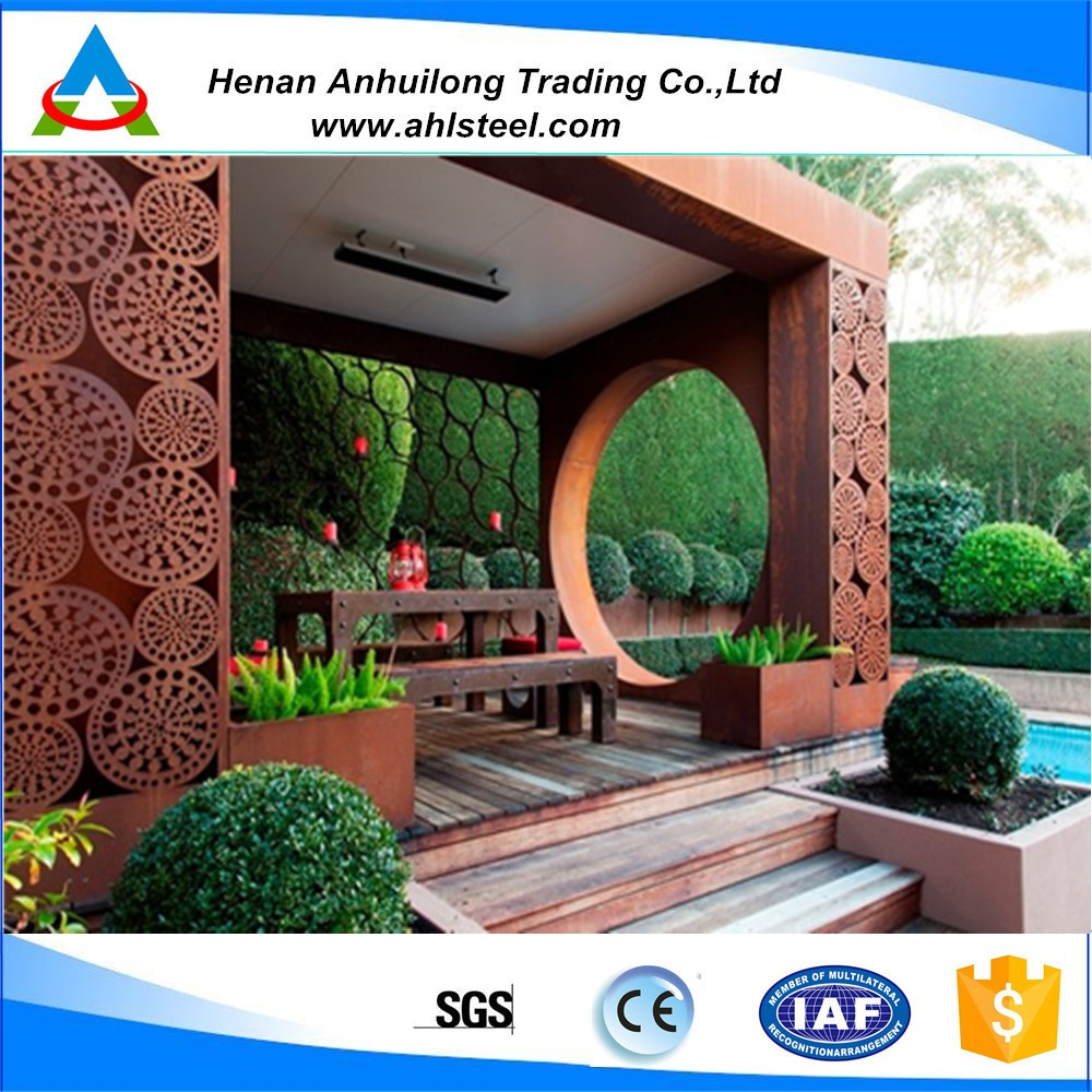 Factory Price Decorative Laser Cut Corten Steel Wall Panel/garden ...