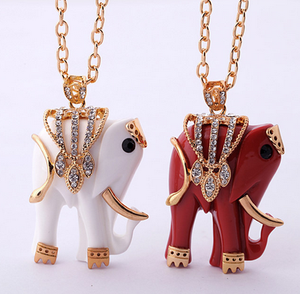 Fashion Jewelry Holy Elephant Pendant Saudi Gold Necklace