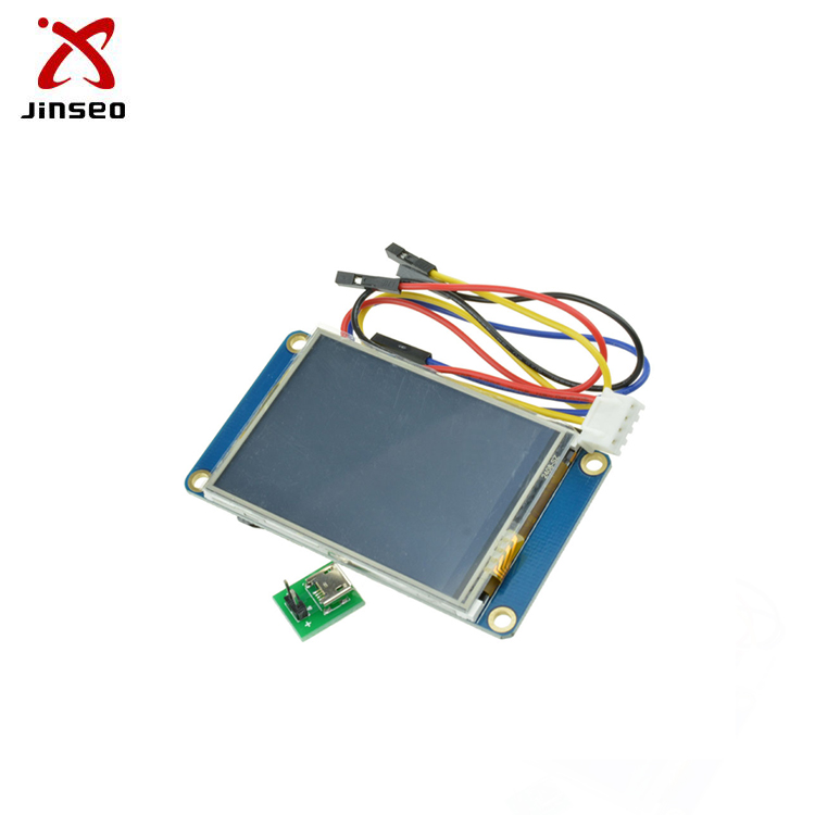 Nextion hmi lcd display interface with microcontroller