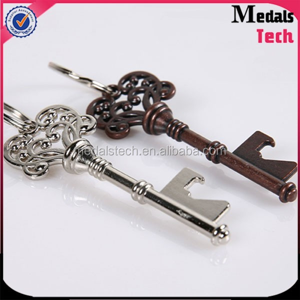 Cheap antique personalized vintage steampunk skeleton key bottle opener