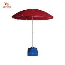 Red patio parasol