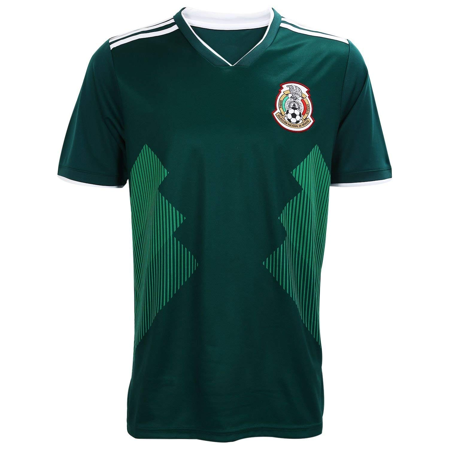 Get Quotations · Mexico Mens Soccer Jersey Camiseta Replica National Soccer  Team Jersey Color Green. Russia World ef94ab596c7