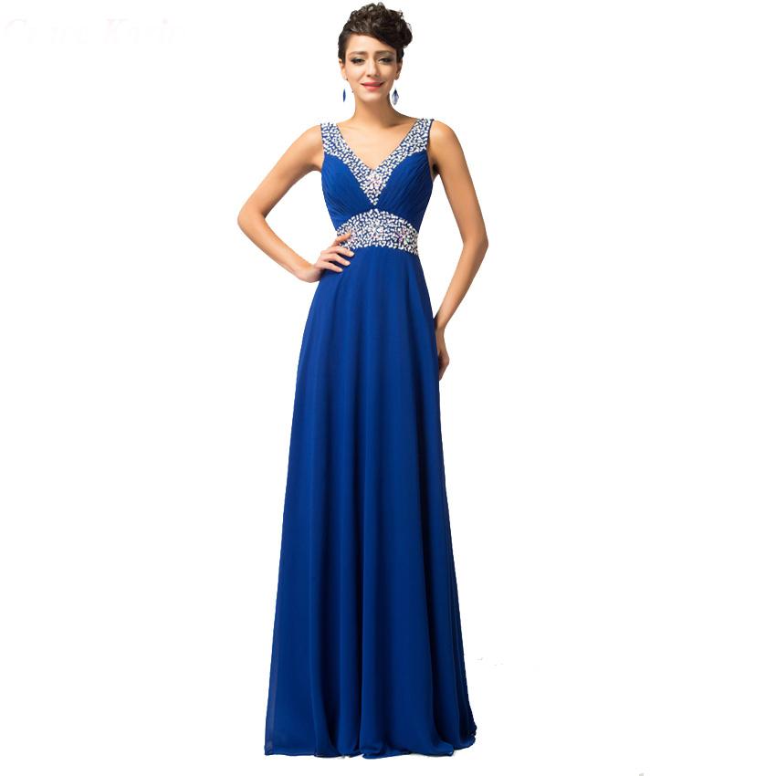 042fd07e772 Tmavě modré dlouhé večerní šaty se zdobením z Aliexpress
