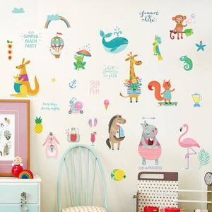Cheap Kids Cartoon Hand Make Wall Stickers Reusable