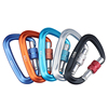 Wholesale Spring Snap Hook Custom Locking D Shaped Climbing Aluminum Carabiner
