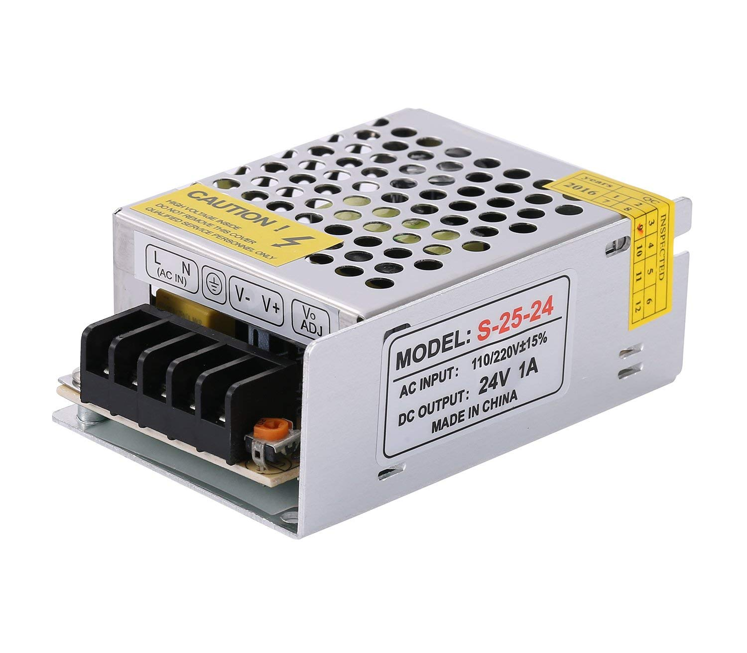 COOLM 24V 1A 25W DC Universal Regulated Switching Power Supply AC to DC 24V 1Amps