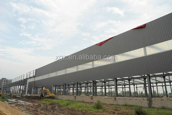 large span demountable steel factory building design layout