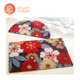flower design comfortable korean custom floor mat
