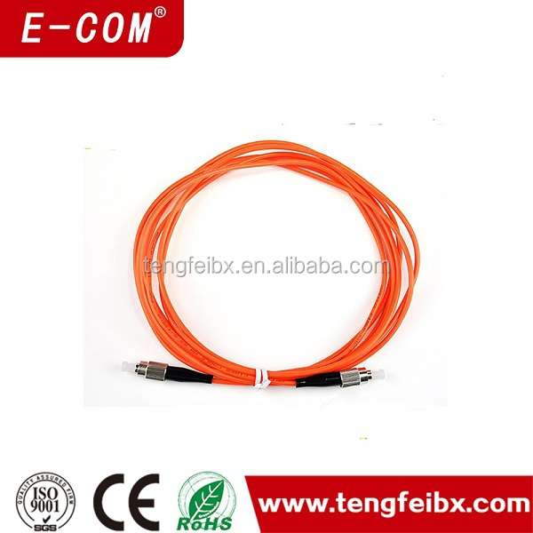 Telcom quality 10ft MM 2.0/3.0mm LSZH single core fiber optic cable for patchcord