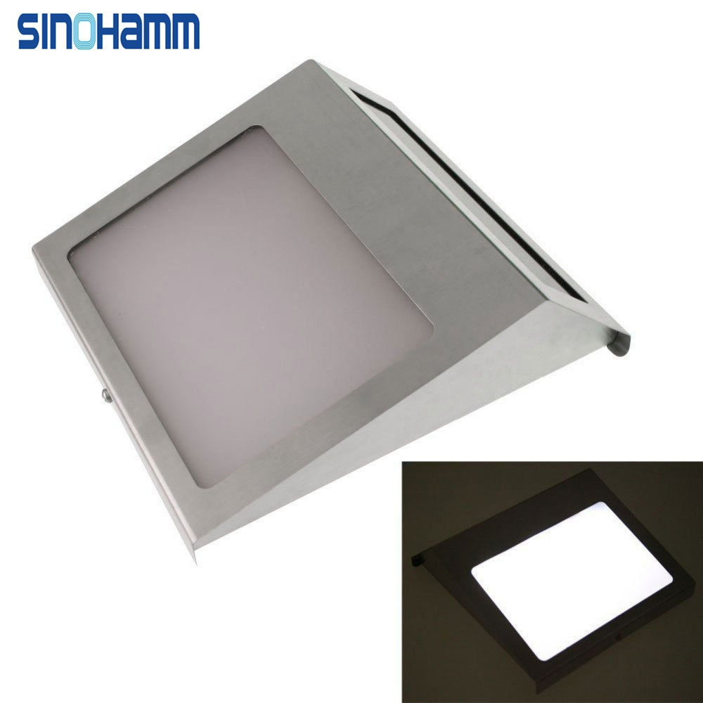 SINOHAMM 2016 YEARSOutdoor Highlight Stainless Steel 3LED Wall Illuminator Waterproof Solar House Address Light,Wall Light