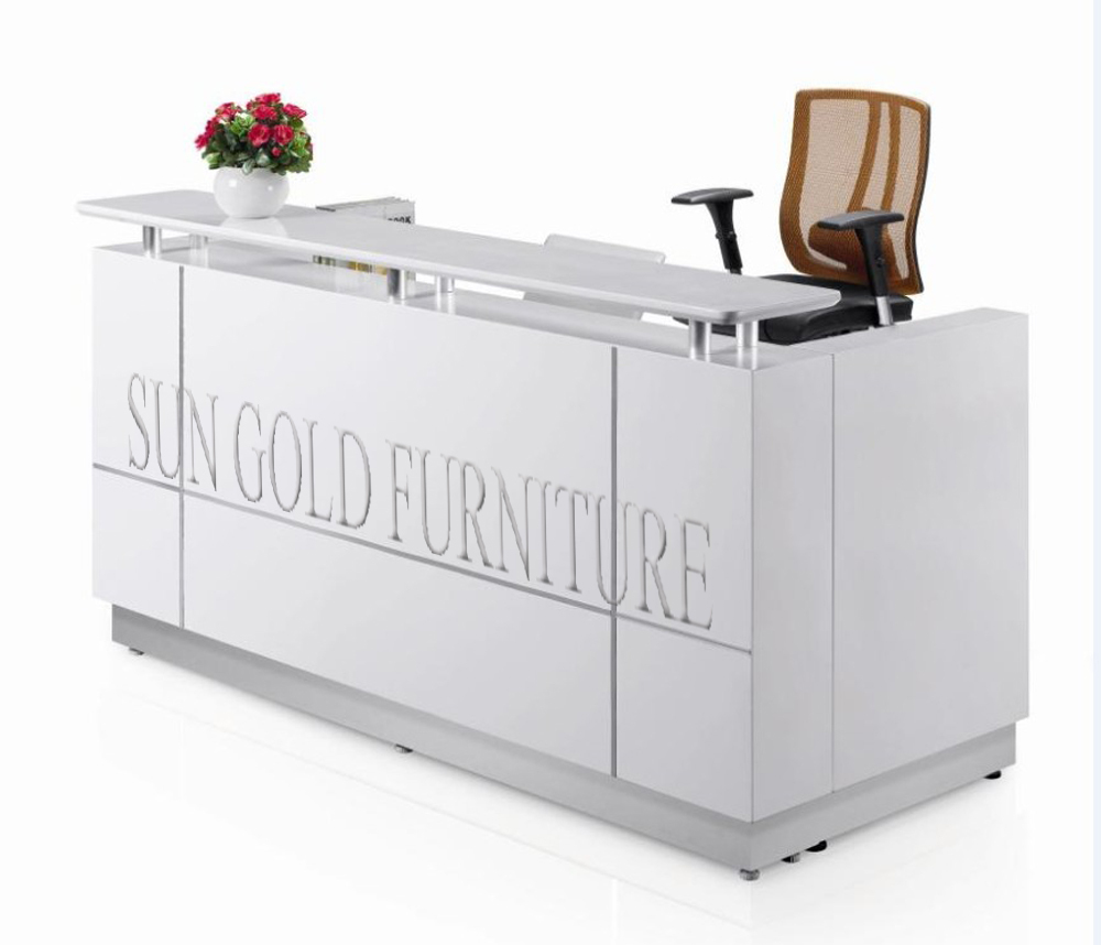 Beauty Salon Small White Reception Desk Sz Rt015 Buy