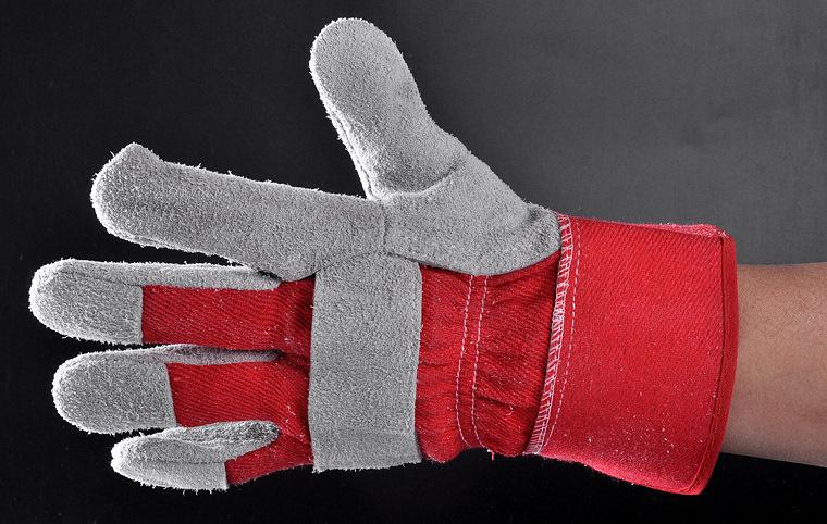 Ab Grade 707 Work Cow Split Leather Working Gloves Fl-1020 Red ...