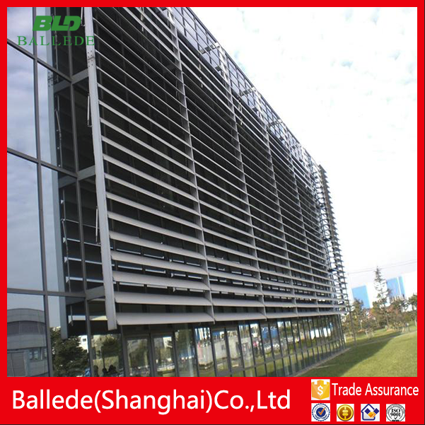 Cutom Building Facade Horizontal Motorized Louver Buy Horizontal Motorized Louver Facade
