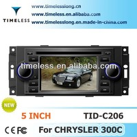 Car DVD Player 300C Chrysler with Phonebook iPod 3G WIFI 20VCDC A8 Chipset CPU 1GMHZ ROM 512MB 4G Memory S100