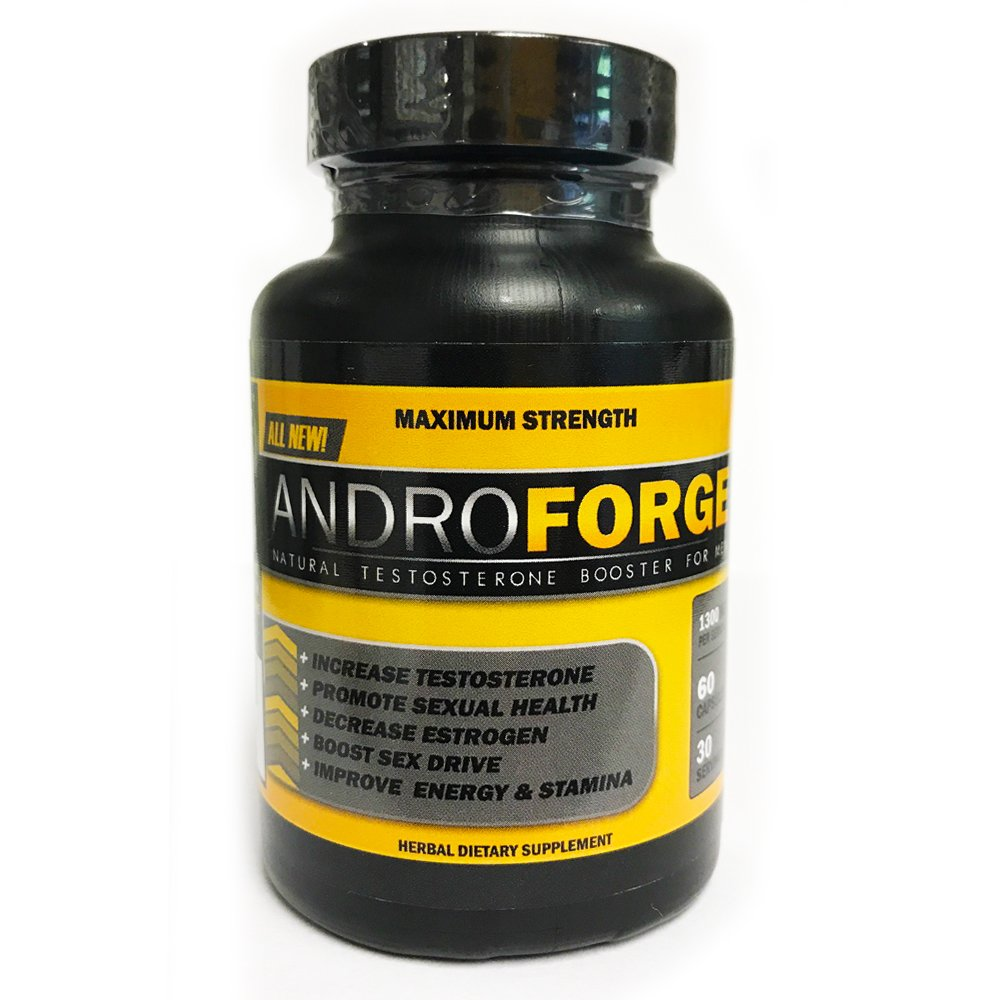 VH Nutrition AndroForge   Natural Testosterone Booster for Men - 30 Day Supply - 60 Capsules