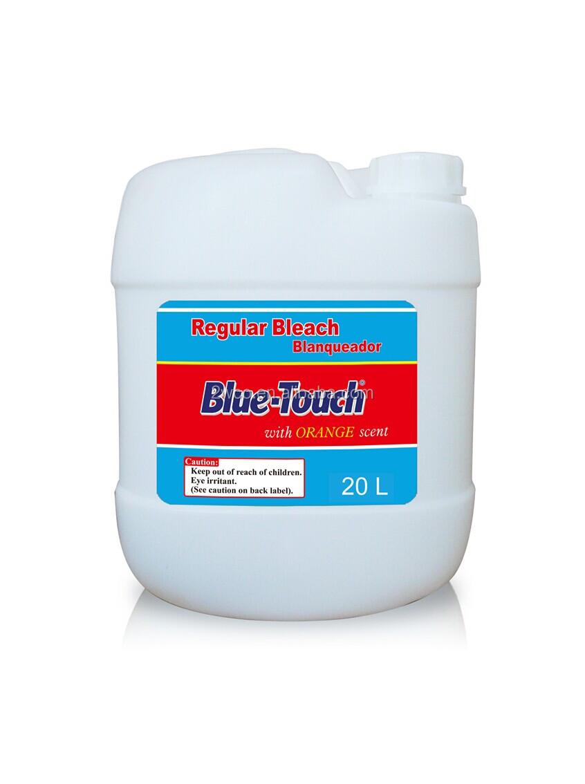 Blue Touch Brand Cleaning Chemical Liquid Clorox Regular Bleach In Bulk 5L 20L