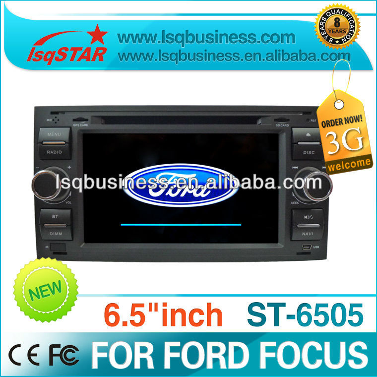 Dual zone/IPOD/smart TV/3G/car stereo/fm radio/RDS receiver for Ford Focus,ST-6505