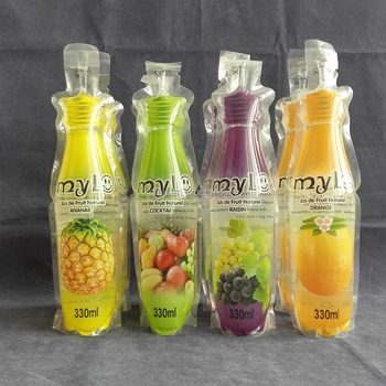 Fruit Juice Stand Up Packaging Bag Pouch Function Soft Drinks And Pouches