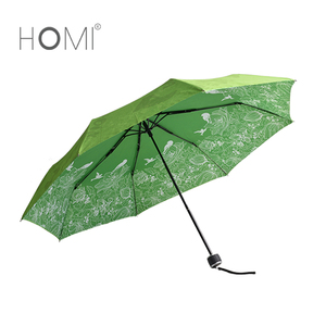 Windproof and Waterproof manual open 3 Fold Lightweight Portable latest travel spring umbrella