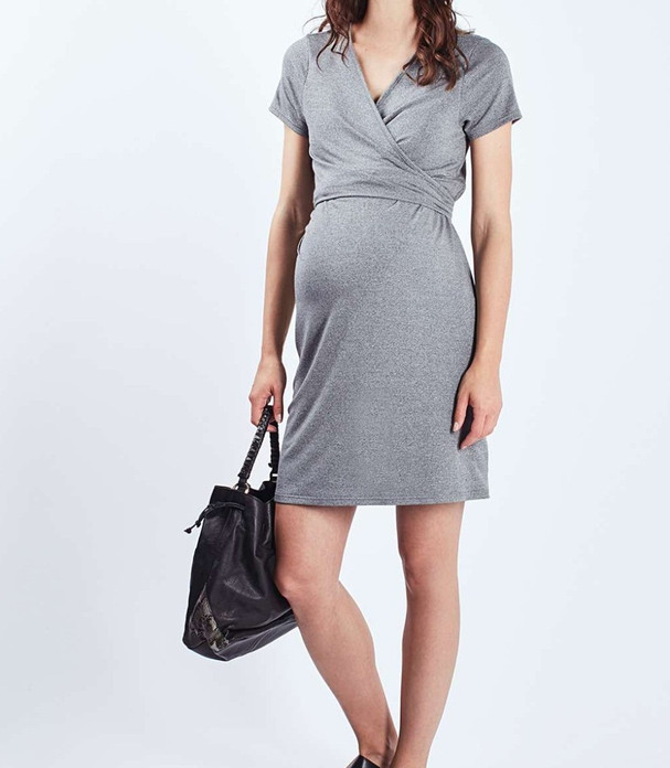 ffc7df3f54b48 Sexy N-neck Short Sleeve Casual Loose Work Wear Office Pregnant Women  Dresses Maternity for