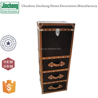 Antique dark brown felt high chest of drawers bedroom