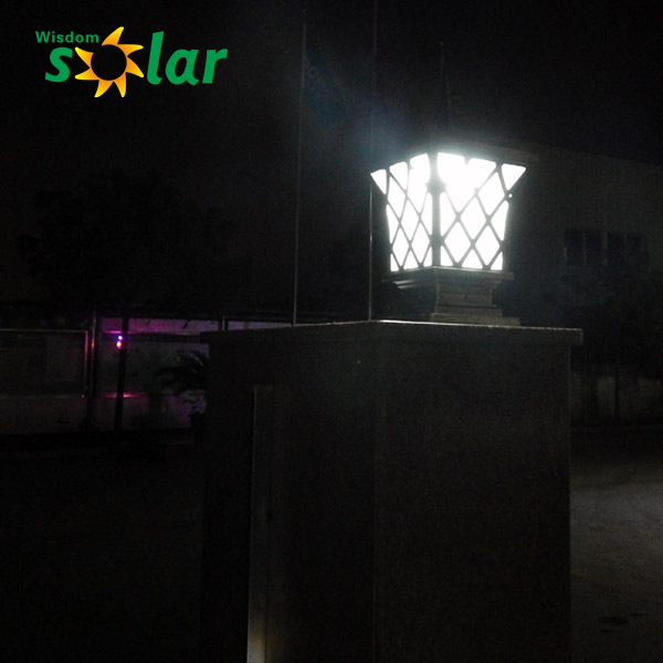 Electric Replacement Main Gate Solar Led Light Solar Led Pillar ...