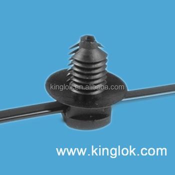 Kunststoff Verschluss Nylonkabelbinder Halterung/kabelklemme/nylon ...