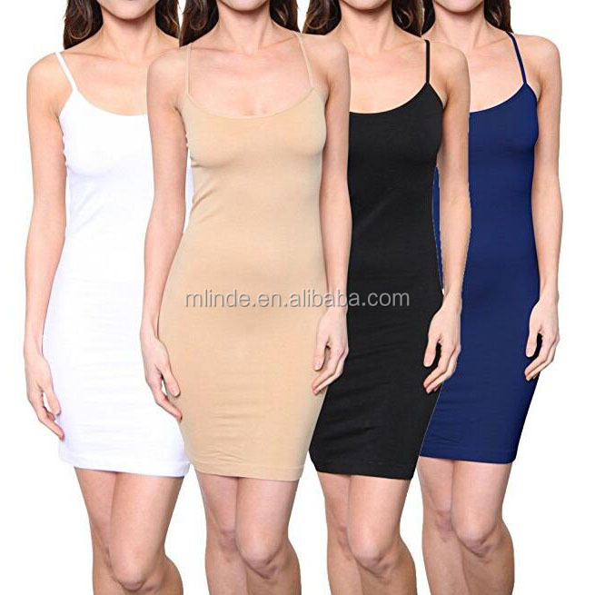 Wholesale Western Women Long Spaghetti Strap Full Cami Slip Undergarment Layering Modal Camisole Under Dress Liner